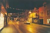 Christmas lights on Soham High St.