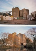 Two views of Clark and Butcher's Lion Mills at Soham. Since demolished and land used for housing.