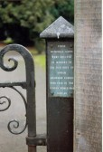 Plaque on the gates at Beechurst, Soham Village College, commemorating the Grammar School Old Boys who died 1939-45.