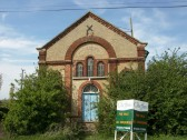 Soham Fen Primitive Methodist Chapel, founded 1872. Now derelict and for sale.