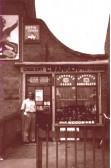 Cyril Barker outside his shop on Fordham Rd, Soham, now Webb Stores. Run by Barkers 1938 - early 70's. Shop and house had belonged to Alice Brown.