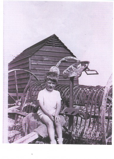Derek Barker at the farm of his grandfather, George Hills, in Soham.