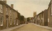 Churchgate St, Soham, in the 1920's. Waddington's china shop on left, later the library.