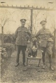 Billy Manning of Soham and another unknown soldier at Marienburg in 1919.