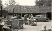 Civil Defence volunteer welfare officers from Soham preparing a cooking centre on ' Soham Exodus' exercise at Chippenham Park