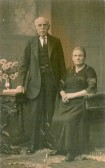 John and Julia Attlesey of Soham, possibly pictured on their Golden Wedding anniversary.