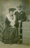 Julia Attlesey of Soham and Benjamin Ernest Cavey, in their courting days. They married in the Sheffield area in 1911.