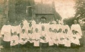 Choir of St. Andrews church, Soham. Eric Cavey seated first left, aged 8. It was his first year in the choir.