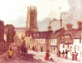 Print of Soham (Churchgate St and St. Andrews church) - original of unknown date.