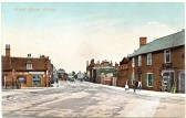 P/C looking north from Cross Green, Soham - up Pratt St. Note the pump on the left, the Coop store and a hardware shop where Lea Stores is now.