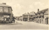 Red Lion Square, Soham inc. War Memorial, Red Lion and Post Office where Sergio's is today.