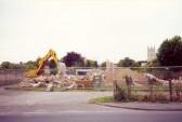 Demolition of Soham police station, Paddock St. Built in 1951.