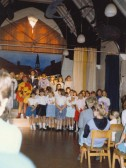'The Pied Piper' in the hall at St. Andrew's school's old Clay St. building in Soham, before the move to the current building.