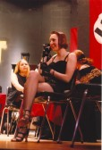 Jenny Roberts as Sally Bowles in a Kit Kat Club scene, in Soham Village College's production of 'Cabaret'.