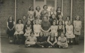 May Rouse and her class at Soham Junior Girls' School on Clay St.