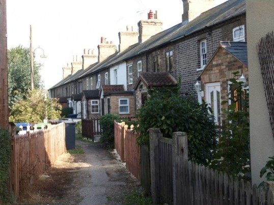 Prospect Row, St Neots, from the Cambridge Street end, in September 2008