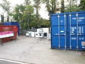 "Public Amenity Site, St Neots in September 2008 - Recycling ""White Goods"" at the St Neots recycling centre"