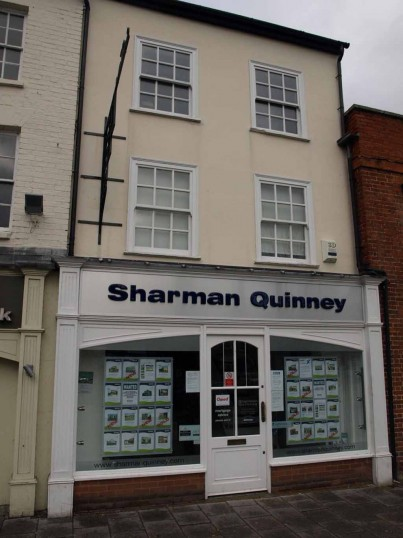 Sharman and Quinney Estate Agents, St Neots Market Square, in November 2008.