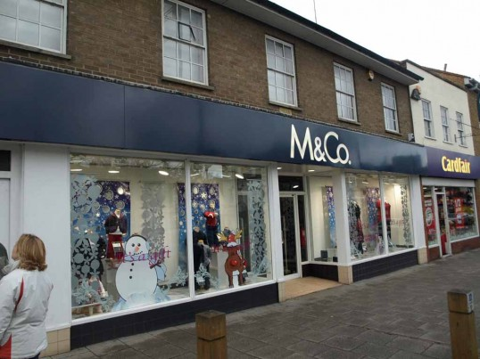 M & Co Clothing Shop in St Neots Market Square, in November 2008