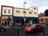 Clarkes Shoe and Barrett's shops in November 2008, Market Square, St Neots