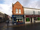 Norwich and Peterborough Building Society, 1 High Street, St Neots, in November 2008, once Freeman Hardy and Willis Shoe Shop