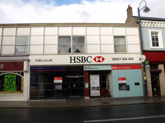 The HSBC Bank (formerly Midland Bank), St Neots High Street, in November 2008