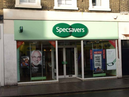 Spec Savers Opticians, St Neots High Street in November 2008