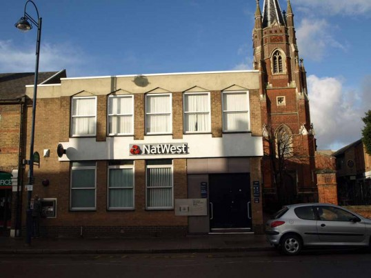 Nat West Bank, St Neots High Street in November 2008