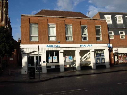 Barclays Bank, St Neots High Street, in November 2008.
