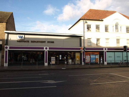 Westgate Department Store, St Neots High Street, in November 2008
