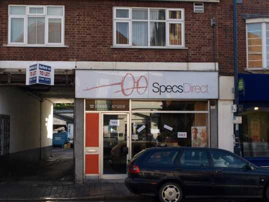 Specs Direct opticians, St Neots High Street, in November 2008