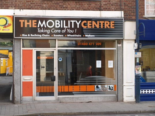 Mobility Centre - with the step into the door, 48 High Street, opened January 2010