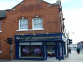 The Norwich & Peterborough Building Society, on the corner of New Street and High Street, St Neots in May 2010