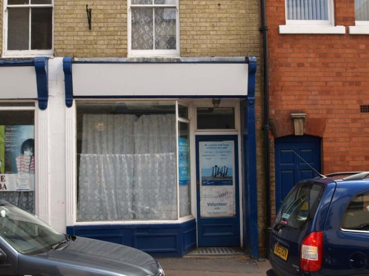 CJ's Internet Cafe at 4 New Street, in May 2010 (closed and awaiting development)