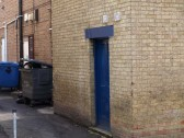 The back entrance to the empty shop at 4 New Street in May 2010.