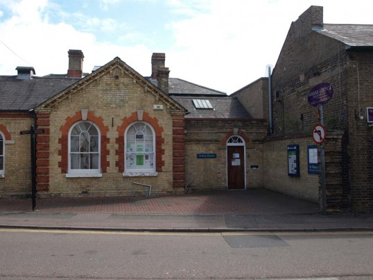 The St Neots Museum in New Street, formerly Magistrates Court and Police Station in May 2010