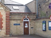 The front entrance to the St Neots Museum in New Street, St Neots in May 2010