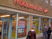 Woolworths, St Neots, last day of business, 3rd January 2009, St Neots Market Square