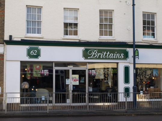 Brittains Furnishings, in St Neots High Street, November 2009