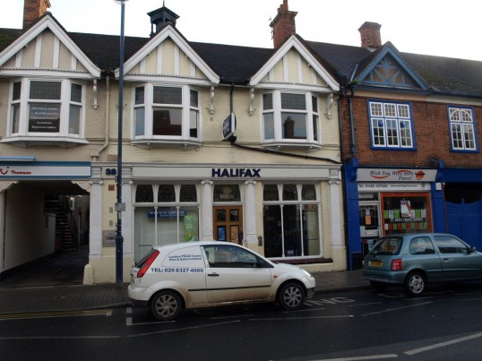 Halifax Building Society, in St Neots High Street, in November 2009