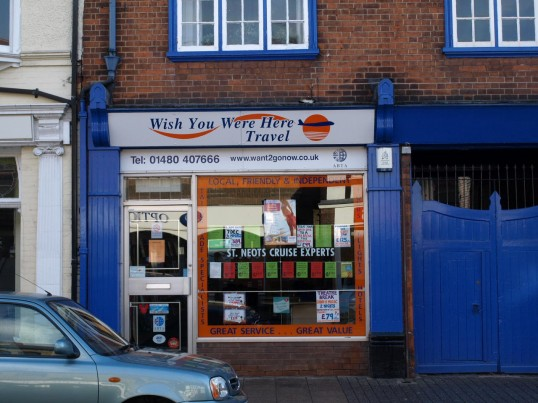 Wish You Were Here Travel Agency, 36 St Neots High Street, in November 2009