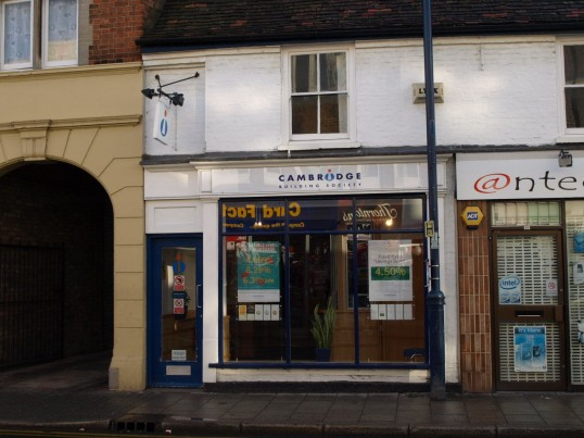 Cambridge Building Society in St Neots High Street in November 2008
