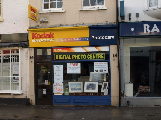 Kodak Express & Photocare shop in November 2008,  High Street, St Neots