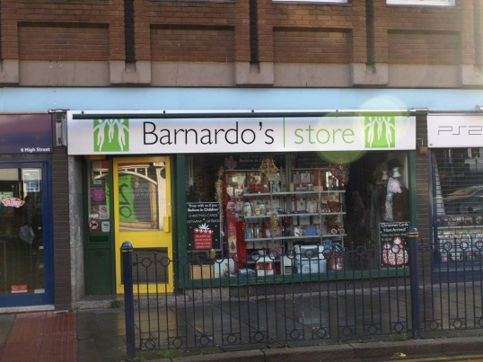 Barnardo's Charity Shop in St Neots High Street in November 2008