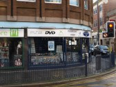Entertainment Base Video & DVD shop on the corner of St Neots High Street and South Street in November 2008