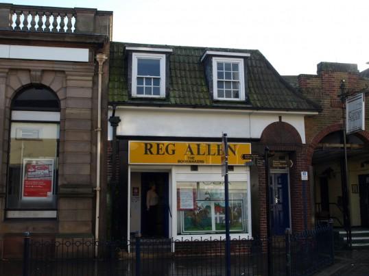 Reg Allen Betting Shop in St Neots Market Square in November 2008
