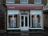 Connells Estate Agents on the south side of St Neots Market Square in November 2008