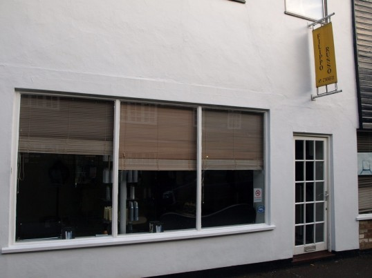 Filippo Russo Hairdressers in Fishers Yard, just off St Neots Market Square, in November 2008