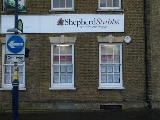 Shepherd Stubbs Recruitment in St Neots Market Square in November 2008