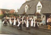 "Heartsease folk dancers dancing ""Soldier's Joy"" at The Royal Oak, Hail Weston, in 1993"